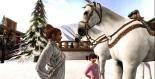 Taelor petting the horses