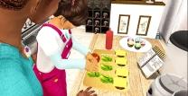 Taelor assembling the burgers )