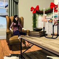 Catarina sitting and chatting