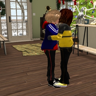Timmy and Taelor greeting hello