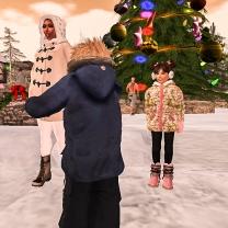 We arrive outside Santa's workshop
