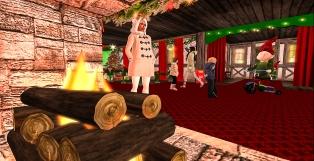 Arrived inside Santa's workshop