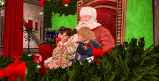 Taelor and Timmy with Santa