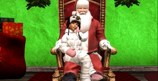 Taelor sitting with Santa