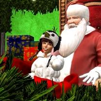 Taelor sitting with Santa