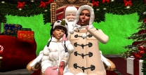 Taelor and I sitting with Santa