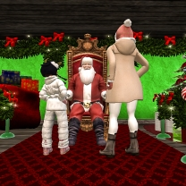 Taelor and I with Santa