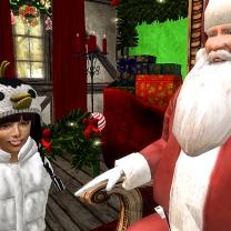 Taelor with Santa