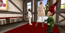 Taelor and I leaving Santa's workshop