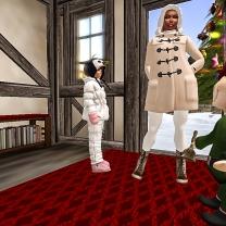 Taelor and I leaving Santa's workshop