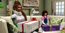 Taelor and I opening our gift