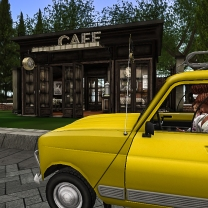 Arriving at the cafe