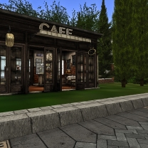Parking up by the cafe