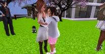 Taelor giving Mystina a big hug when she arrived