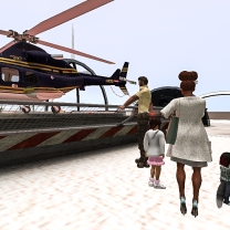 All of us boarding the chopper