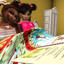 Taelor and I reading his book