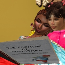 Taelor and I reading his book - we have a precious moment together