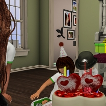 Siddy wanting to cut his cake
