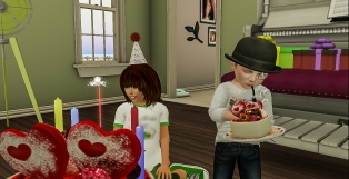 Siddy eating cake