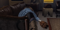 Knocked out on the couch