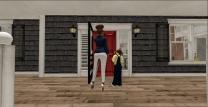 At Aunty Catarina's door
