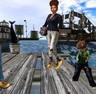 Landed on the docks