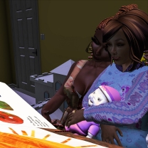 Tae and I reading