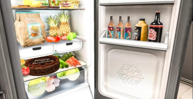 Opening fridge