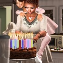 """""""Happy Birthday to Me"""" Cake"""