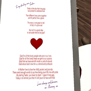 Taelor's Valentines day card