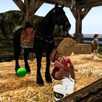Taelor taking care of Cocoa